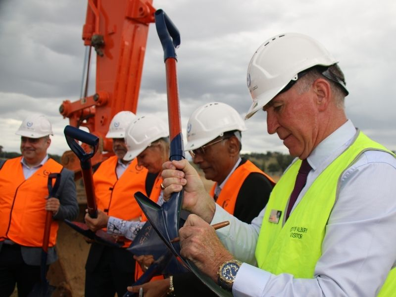 A sod turning marks the beginning of construction of a $45M plastic recycling plant at Nexus