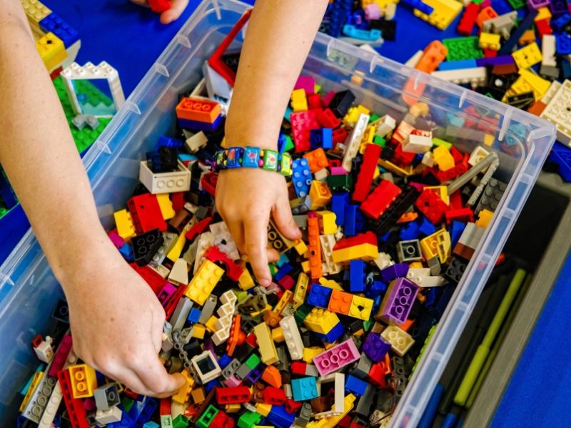 huge tub of lego