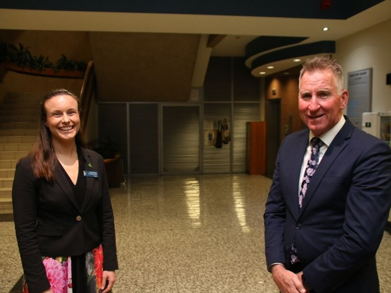AlburyCity Mayor Kevin Mack and Deputy Mayor Amanda Cohn have been re-elected to new terms
