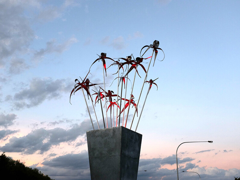Image of the public art installation on East Street