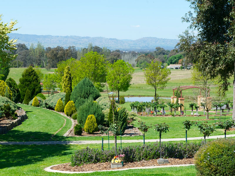 stunning gardens at Glenmorus