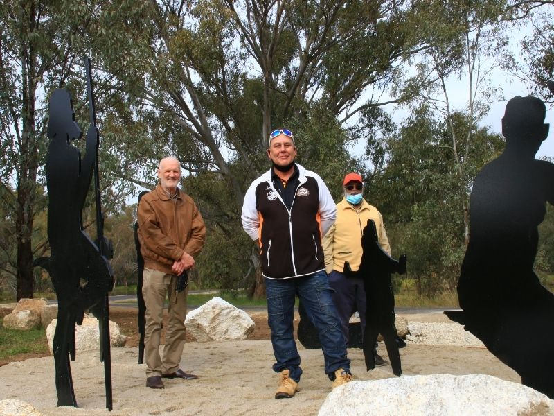 The redeveloped Yindyamarra Sculpture Walk tells new First Nations stories