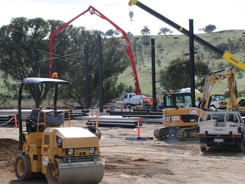 new push pit under construction