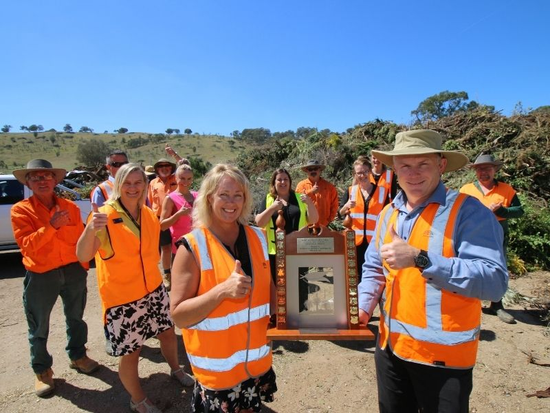 AlburyCity's waste management team is proud to have worked with the community to achieve Tidy Towns success.