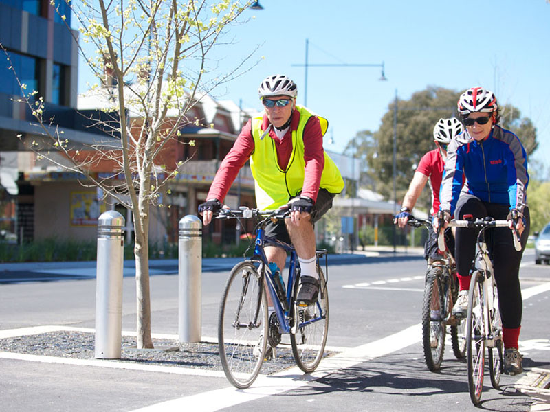 Image of cyclists riding