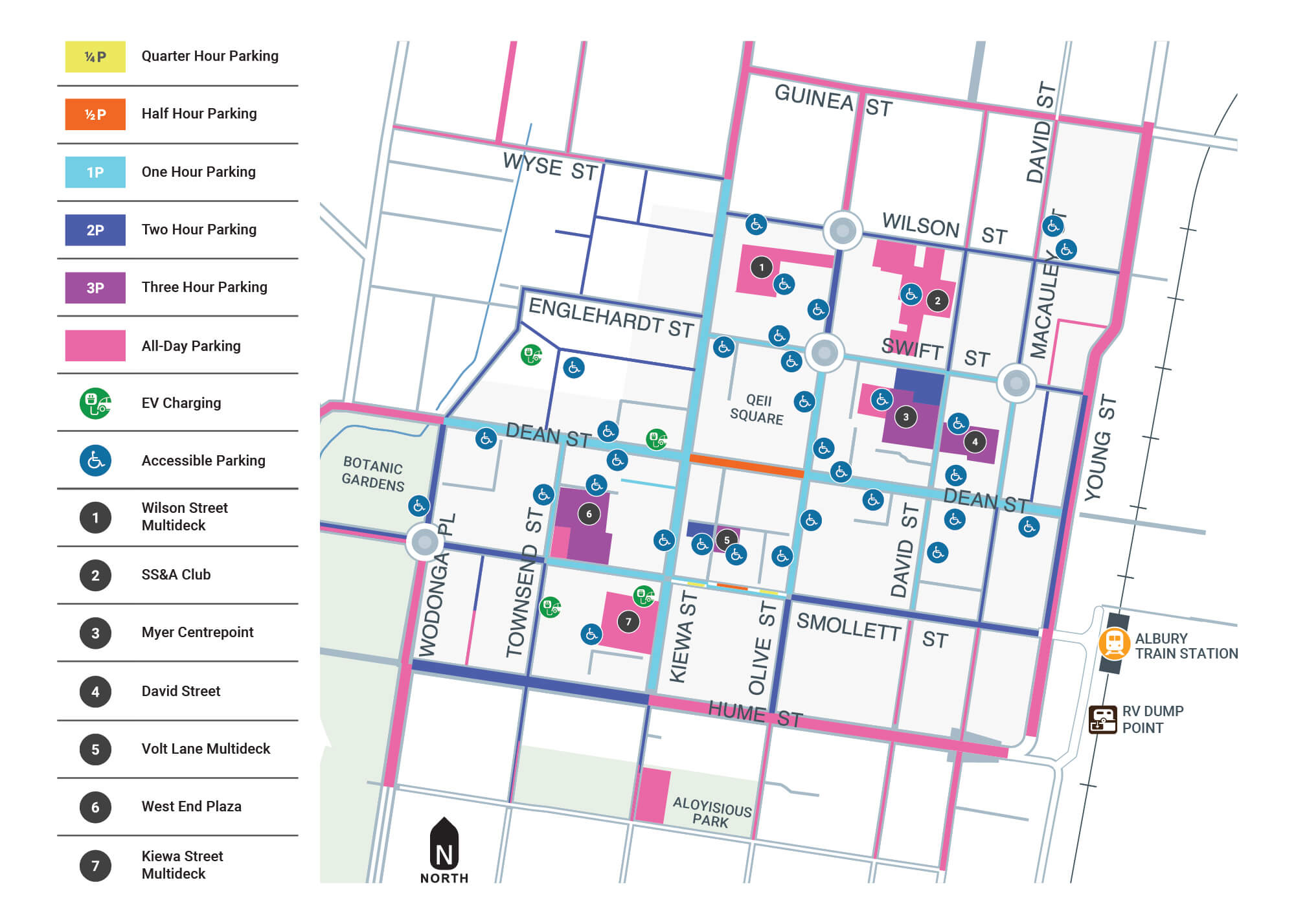 Albury CBD Parking Map