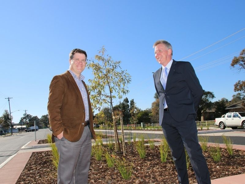 Businesses are expected to benefit from the beautification of Wagga Road.