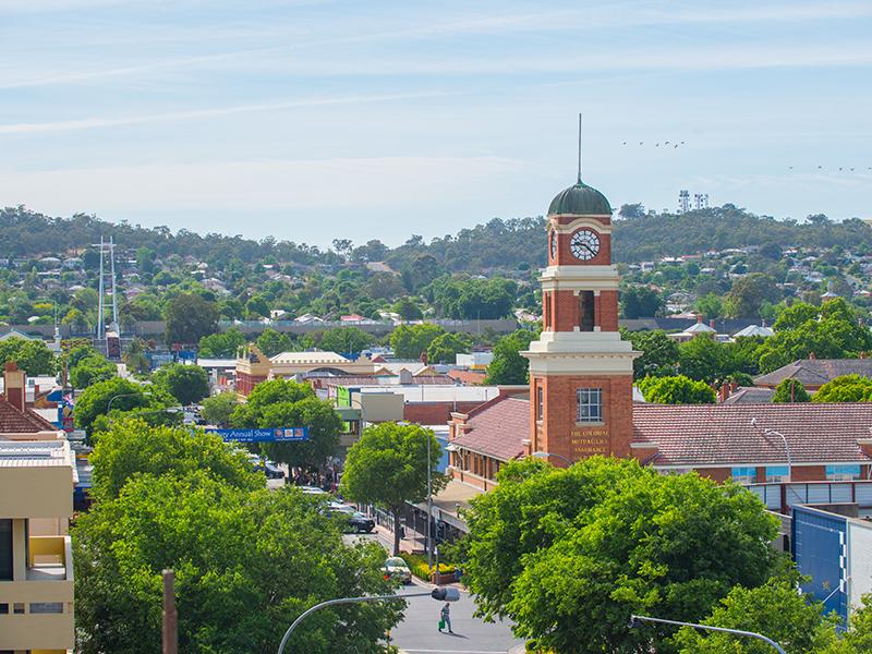 Generic shot of Albury streetscape