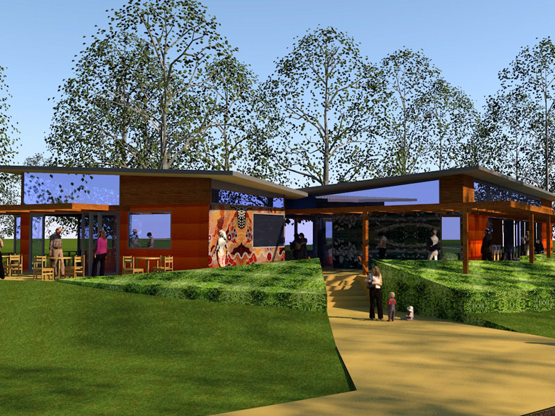 concept image of the education centre at Wonga